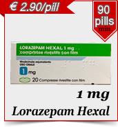 Lorazepam hexal 1 mg